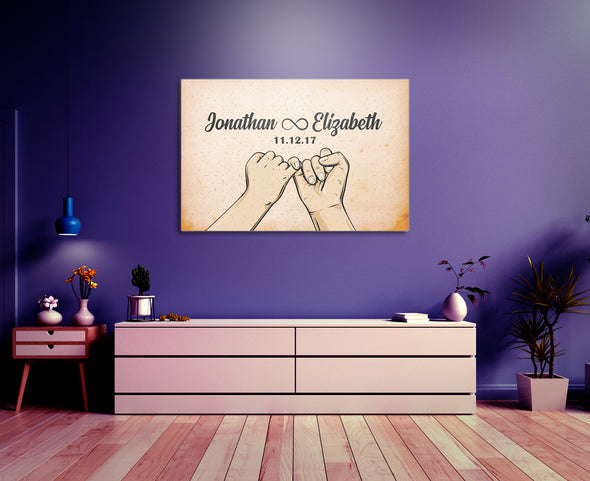 Infinite Love Custom Wall Art - Perfect Gift For Your Love