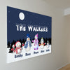 The Walkers Custom Family Canvas Wall Art