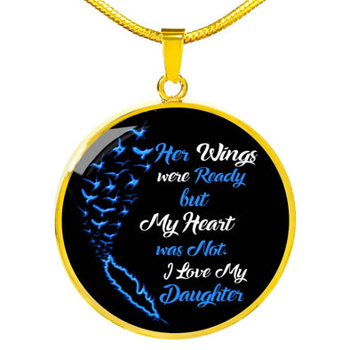 """My Daughter Wings"" Necklace With Custom Engraving"