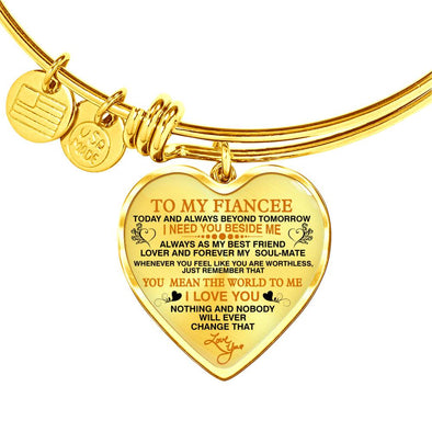 "To My Fiancee ""Forever My Soulmate"" Valentine Gift **With Transparency**"