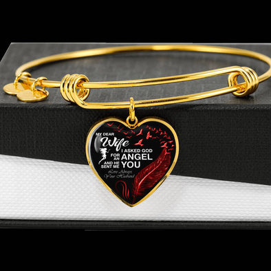 Valentine Bangle For My Angle Wife **With Transparency**