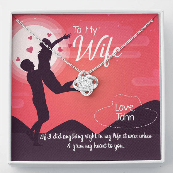 To My Wife- Customized Necklace