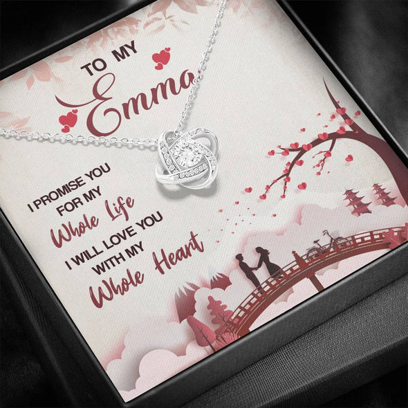 Customized Pendant-I Will Love You With My Whole Heart