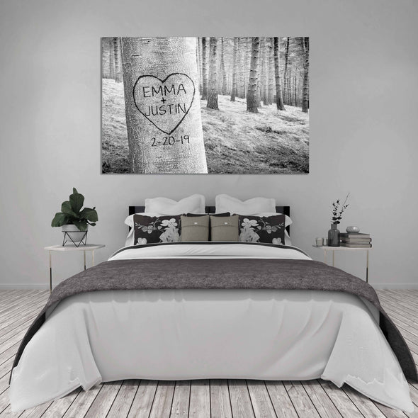 Carved Heart Art Canvas