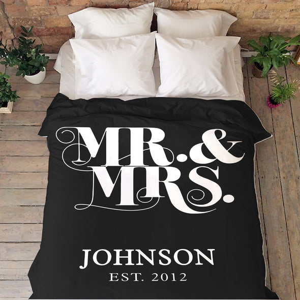 "Personalized Couple Blanket ""The Best Wedding Gift"""