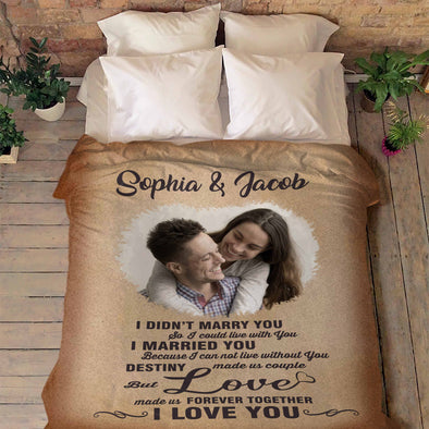 """Destiny Made Us Couple"" Customized Blanket"