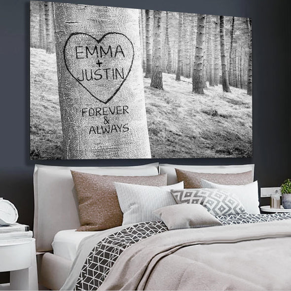 Forever My Love Tree Personalized Wall Art