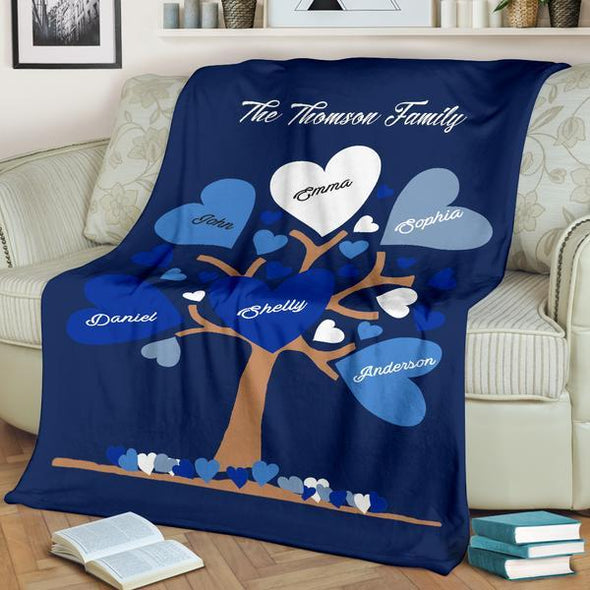 Customized Family Tree Blanket