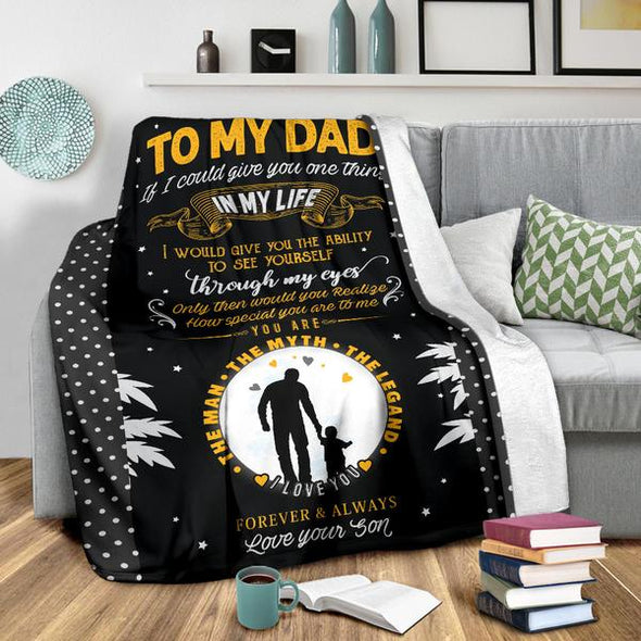 Father's Day Special Love Son **The Man The Myth The Legend** Fleece Blanket