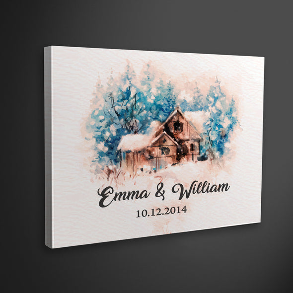 Customized Couple Sweet Home Canvas