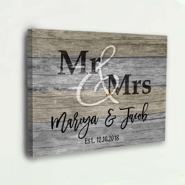Mr & Mrs Personalized Couple Home Decor