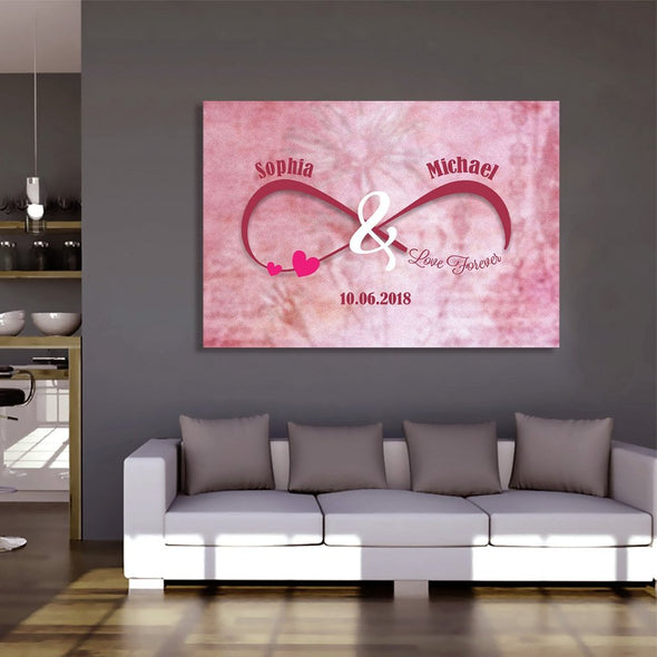 """Love You"" Infinity Personalized Canvas"