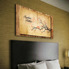 Wooden Piece Love Birds Custom Canvas