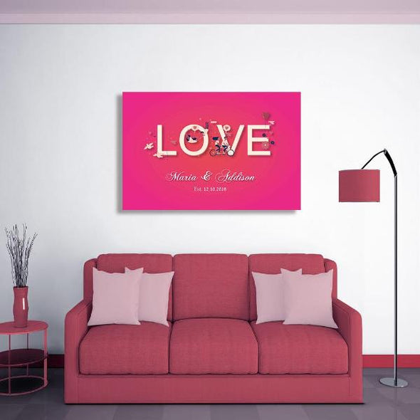 Personalized Love Canvas