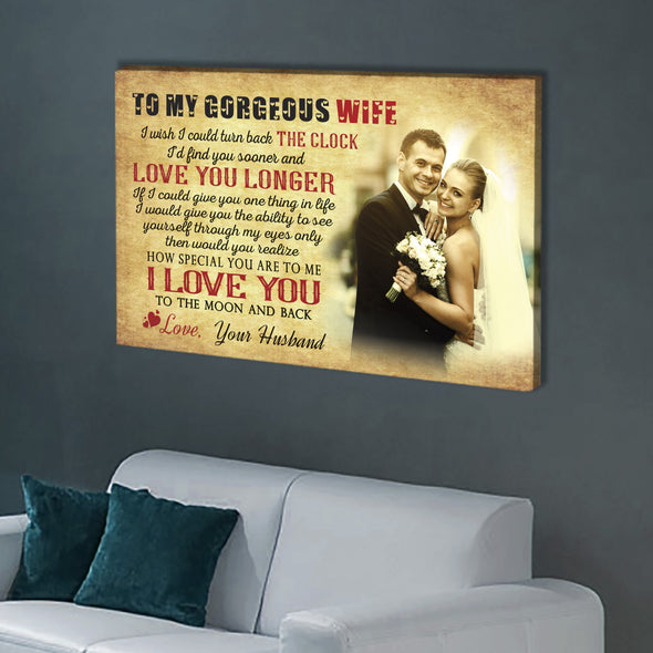 To My Gorgeous Wife, Personalized Premium Wall Art
