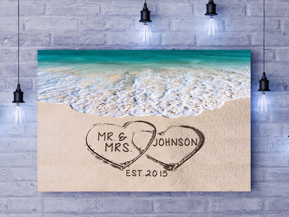 Mr & Mrs Personalized Wall Art - Ready To Hang