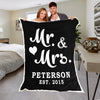 Mr & Mrs Personalized Anniversary Blanket