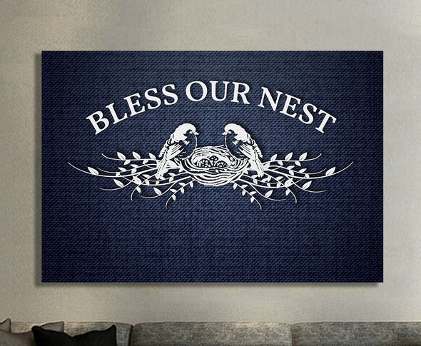 Bless Our Nest Custom Family Name Canvas - Live Preview