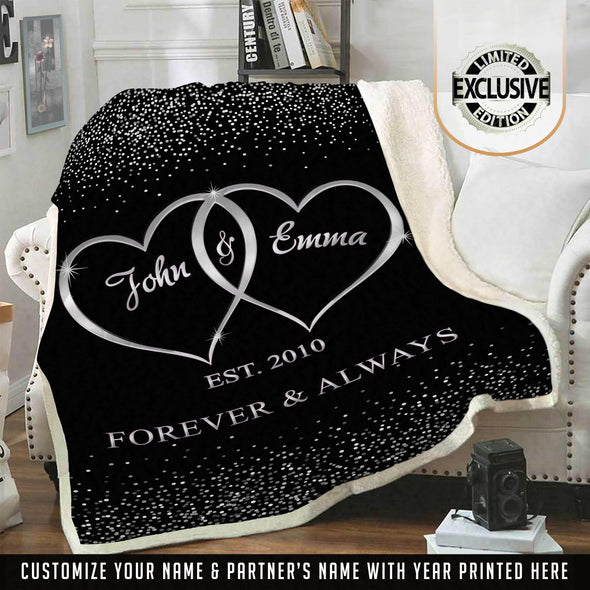 Customized Blanket For The Closest One To Your Heart Silver