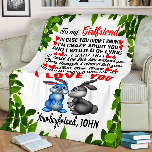 """To My Girlfriend I Love You""- Personalized Blanket"