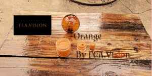 Orange, by FEA.Vision -An Artisanal, Original Oil Paint
