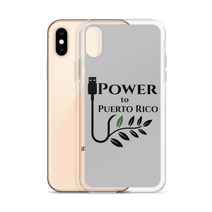 iPhone case for X/Xs with black Power To Puerto Rico Logo