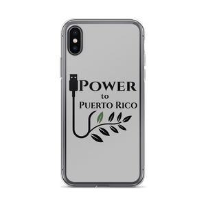 iPhone case for iPhone X or iPhone XS with Power To Puerto Rico Logo