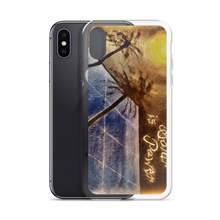 "A night sky background illuminated by the moon, reflects light to a blue solar panel is depicted vertically on this protective iphone case. ""Sleeping Solar, Sunless Power"". Painted by artist Chance Rovski."