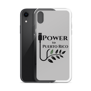 A gray iPhone case for X/Xs with Power To Puerto Rico Logo
