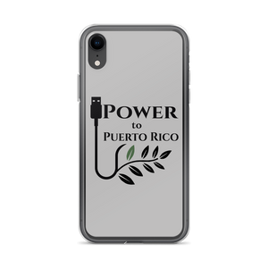 grey iPhone case for X/Xs with Power To Puerto Rico Logo