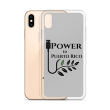 Grey SafetyCase for iPhone XS Max. Featured on the back is the logo for Power To Puerto Rico.
