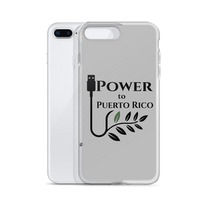 Power To Puerto Rico Logo on iPhone 8+
