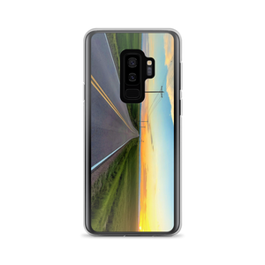 A Samsung Galaxy Smartphone SafetyCase captures a colorful country field in the summer evening.
