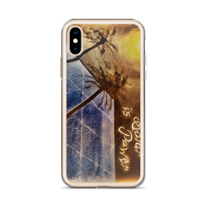 "A night sky background illuminated by the moon, reflects light to a blue solar panel is depicted on this protective iphone case. ""Sleeping Solar, Sunless Power"". Painted by artist Chance Rovski."