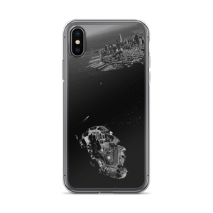 So this iPhone appears beneath a cool, luxurious cover for its own protection featuring the San Francisco Bay Area and the island prison of Alcatraz.