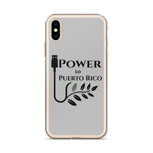 iPhone case for iPhone X or iPhone XS with Power To Puerto Rico Logo in black