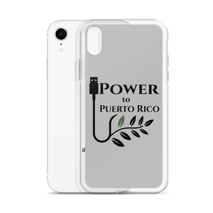 iPhone case for iPhone XR with Power To Puerto Rico's Logo printed upon it.