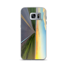 """Some Summer Sunset"" is seen on this Samsung S9 plus Smartphone SafetyCase"