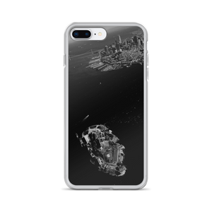 "Featured on this iPhone cover is photographer Victor Allen's ""Always in the Skys of San Francisco"". Seen in the black and white scene is the skyline of the city and a bird's eye view of Alcatraz, the island infamous for incarceration."