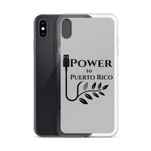 A gray iPhone case for XS Max with Power To Puerto Rico Logo