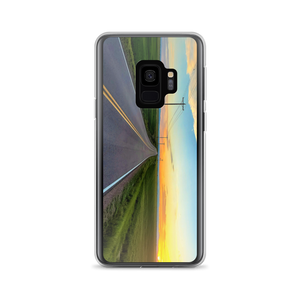 """Some Summer Sunset"" is seen on this Samsung S7 plus Smartphone SafetyCase"