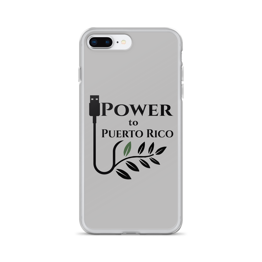 Power To Puerto Rico Logo on iPhone 7