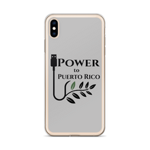 Grey SafetyCase for iPhone XS Max. The Power To Puerto Rico Logo featured on the back.