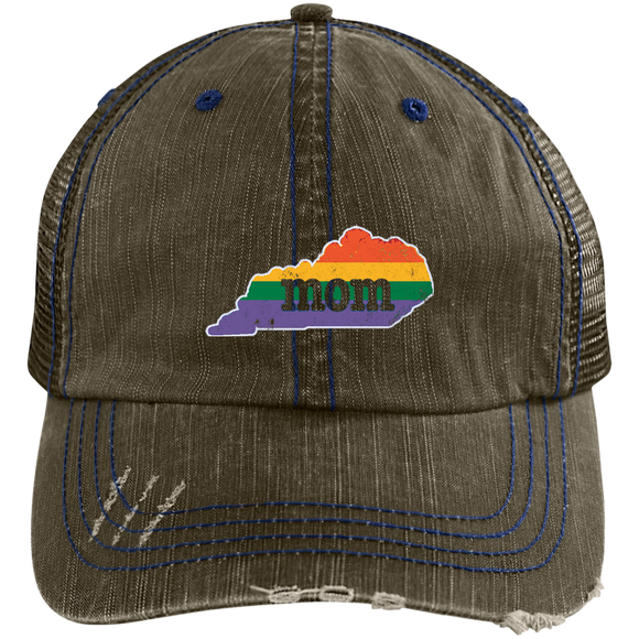 Mom LGBT Flag Hat Kentucky Gay Pride Hat Gay Rights