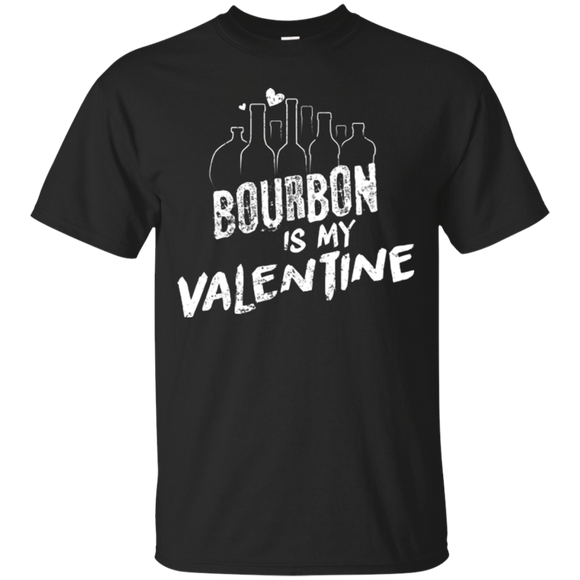 Bourbon Is My Valentine T Shirt Anti Valentines Day Shirt - getkentuckified