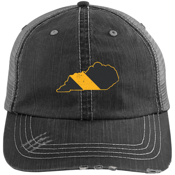 Kentucky Police Dispatcher Hat Thin Gold Line Flag Hat