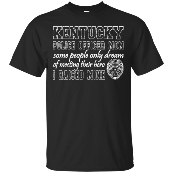 Kentucky Police Mom T Shirt Proud Police Mom Gifts