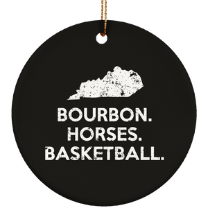 Kentucky Bourbon Horses Basketball Kentucky Things Gift Christmas Ornament