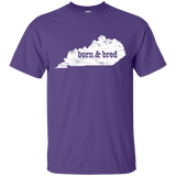 Kentucky Born & Bred Shirt Funny Kentucky T Shirt Gift - getkentuckified