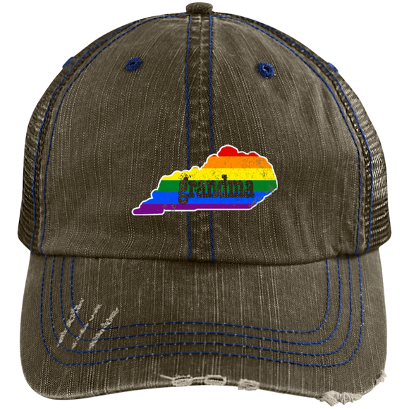 LGBTQ Flag Rainbow Pride Hat Kentucky Grandma Gay Rights Hat